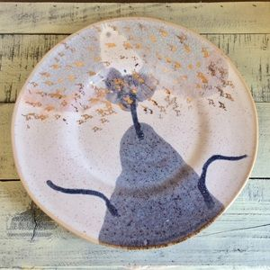 NEW Anthropologie Gold Accent Dessert Plate